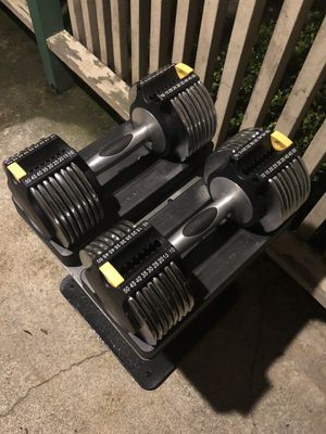 Gold gym 50 pound dumbbells and stand for Sale in Federal Way, WA