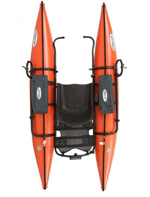 Outcast Sporting Gear Fish Cat Streamer XL-IR Inflatable Pontoon Boat Orange for Sale in Kennewick, WA