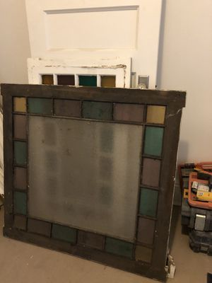 Selling antique glass windows and solid white doors. for Sale in New York, NY