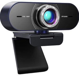 Streaming Webcam with Microphone for Desktop - HD 1080P Webcam with 110° Wide View, Exposure Correction, Plug & Play, Web Camera for Computers, Gaming for Sale in Colonial Heights, VA