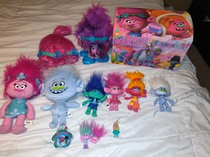 Trolls Dolls and Chest for Sale in San Antonio, TX