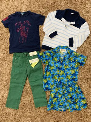 BOYS / KIDS 4T CLOTHES - OUTFITS - OSHKOSH PANTS RALPH POLO SHIRT HAWAIIAN SET ~ ALL FOR $5 for Sale in Etiwanda, CA