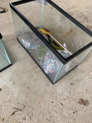 20 gal aquarium and supplies for Sale in Lockport, IL