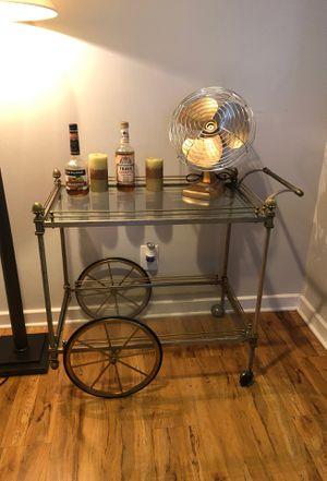 Iron glass bar cart for Sale in Fairfax, VA