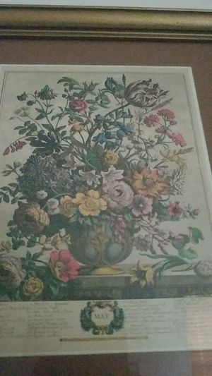 Antique Floral Print for May for Sale in New Freedom, PA