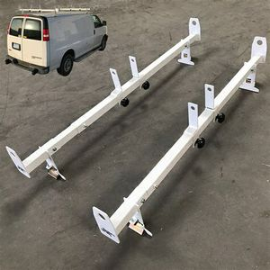 Brand new in box Universal set of 2 Van Ladder Rack Bars Gutter Mount Width Adjustable 500lbs Capacity for Sale in Whittier, CA