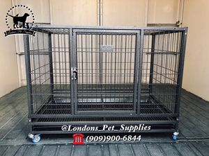 "NEW!! 37"" Foldable Heavy-Duty Dog Cage (Kennel) (Crate) for Sale in Grand Terrace, CA"