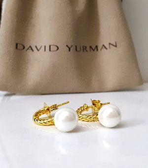 David Yurman 18k Diamond Pearl Earrings for Sale in Aurora, CO