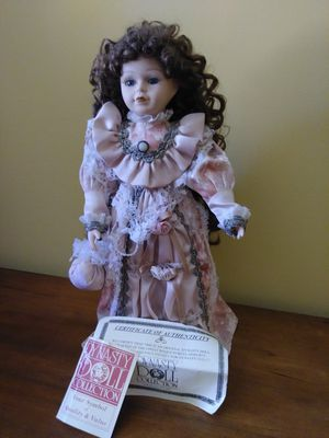 Vintage Dynasty Doll Collection Doll. Long curly hair. Some of ribbon is broken. for Sale in Sebastian, FL