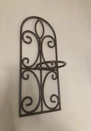 Two cast iron planted pot or candle holder wall hanging for Sale in Everett, WA