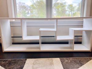 White Wood Contemporary Room Divider / Bookcase for Sale in Ridgewood, NJ