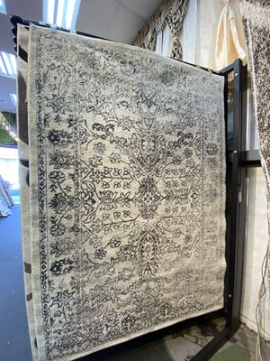 5x8 cream black floral design carpet all over classic rug. for Sale in Los Angeles, CA
