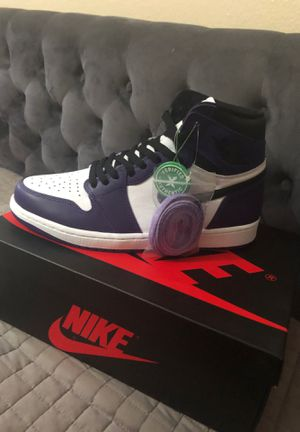 Jordan 1 high court purple NEW NEVER WORN (SIZE 9.5) for Sale in Vista, CA