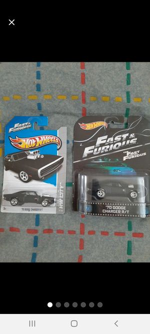 Hot Wheels F&F Doms 70 Dodge Charger ×2 for Sale in Williamsport, PA