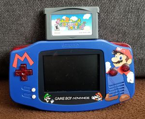 ($65 FIRM) NINTENDO GBA WITH NEW MARIO SHELL SUPER MARIO ADVANCE GAME for Sale in Stockton, CA