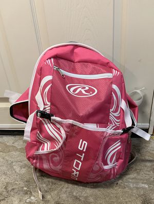 Rawlings brand softball pink softball bag with helmet and fitted glove for Sale in Camas, WA