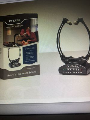 TV Ears Dual Digital wireless Headset System use 2 headset at same time connects to bothDigital and Analog TVs/TV Hearing Aid Device for senior and h for Sale in Los Angeles, CA