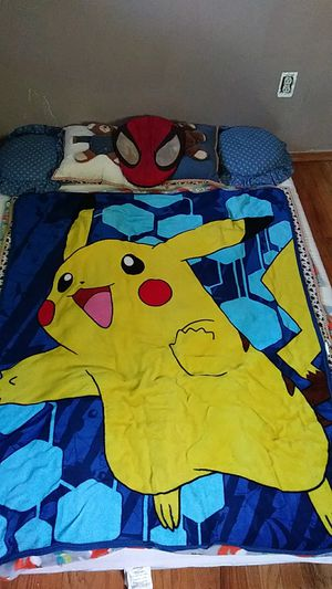 Pokemon Pikachu blanket bought new and never used for Sale in Wexford, PA