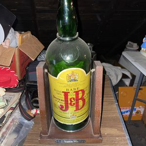 Vintage J&B Scotch Large Green Glass Display Bottle for Sale in St. Louis, MO