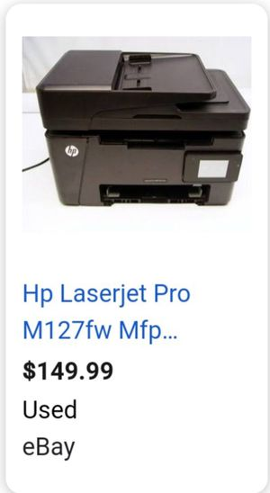 Very cheap printer laserjet pro mfp m127fw price is Firm $45 cheaper than Ebay for Sale in Corona, CA