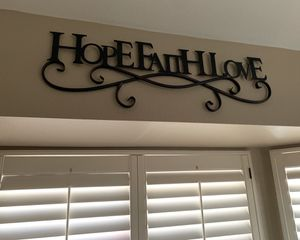 Hope Faith Love Iron Wrought Metal Wall Mounted home decor frame for Sale in Rancho Cucamonga, CA