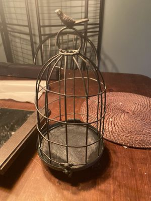 Cage with bird on top for Sale in Grove City, OH