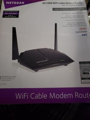 Netgear AC1200 Cable Modem/Router for Sale in Beaumont, TX