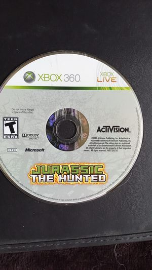 Jurassic the hunted Xbox 360 hard game to find but fun game to play if you still have a Xbox 360 for Sale in Moreno Valley, CA