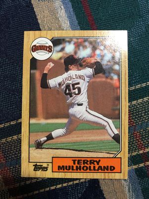 Topps 1987 terry Mulholland card for Sale in Minneapolis, MN