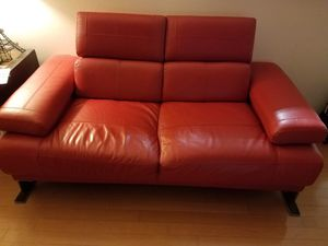 2 seats red couch for Sale in McLean, VA