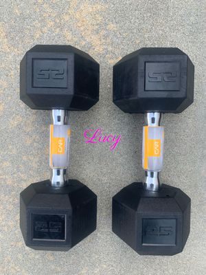 CAP Barbell Coated Hex 25 lbs Dumbbell set for Sale in West Covina, CA