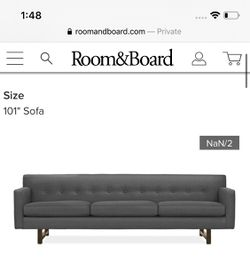 "Room & Board 101"" Andre Sofa (in Ink) for Sale in Glyndon,  MD"