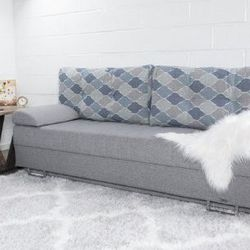 Dynasty Fabric Upholstery Sofa Sleeper Bed with Storage, DEFECTED for Sale in Houston,  TX