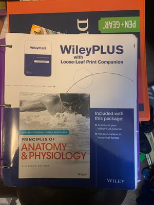 Principles of anatomy and physiology 15th edition for Sale in Beaumont, CA