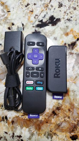 Roku Premiere | HD/4K/HDR Streaming Media Player, Simple Remote and Premium HDMI Cable for Sale in Fullerton, CA