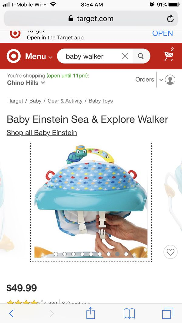 a4cb57d373fc Baby walker baby Einstein s sea and explore for Sale in Montclair ...