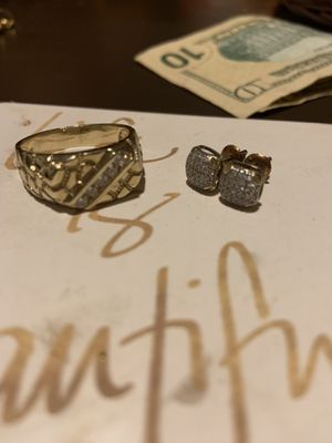 Diamond ring and earring combo $600 for Sale in Antioch, CA