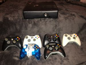 Xbox 360 console and 6 controllers - missing power cord for Sale in Phoenix, AZ