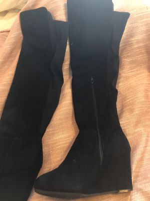 Size 6 knee high wedge boots for Sale in Thornton, CO