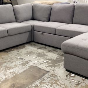 New Sleeper Sectional Couch With Storage /$50 Down for Sale in Los Angeles, CA