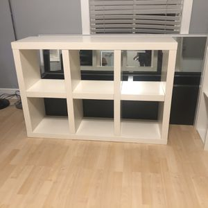 47x14x32 West Elm White 6 Cube Storage System for Sale in Miami, FL