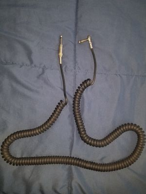 Vintage 20 foot black heavy duty coil guitar/bass cord for Sale in Leominster, MA