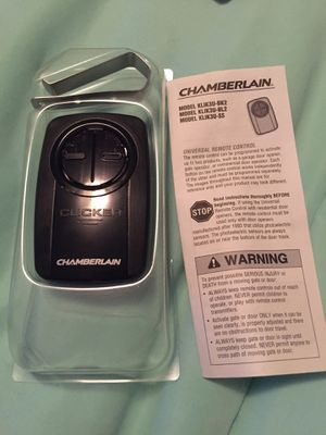 Chamberlain KLIK3U-BK2 Universal Garage Door Opener Remote for Sale in Cleveland Heights, OH