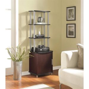 Title: Altra Carson Cherry Audio Stand Descrp. Contemporary style Open shelves for AV components, books and personal items Storage cabinet holds DVDs for Sale in Houston, TX