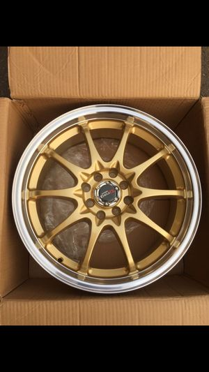 """(4) New 17"""" DR9 Drag gold color Wheels/ rims for sale at cost / Black Friday clearance Special Limited.l for Sale in Sacramento, CA"""
