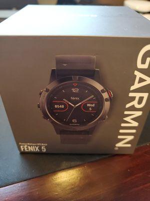 Garmin Fenix 5 Slate Gray with Black Band GPS Fitness Watch for Sale in San Jose, CA