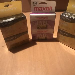 Sony/Maxell Hi 8 Video Camera Tapes for Sale in Salinas, CA