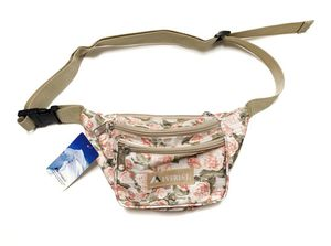 Brand NEW! Peach Flowered Waist/Shoulder/Crossbody/Side Bag/Fanny Pack/Pouch For Everyday Use/Traveling/Hiking/Biking/Jogging/Gifts $9 for Sale in Carson, CA