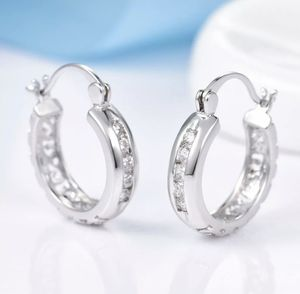 Party Charms Crystal Round Hoop Earrings with velvet gift bag for Sale in Stone Ridge, VA