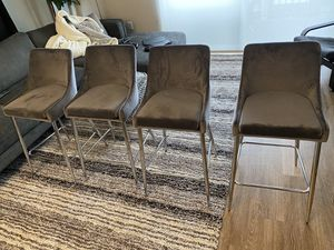 "Gabrielle 27.5"" Bar Stool Gabrielle 27.5"" Bar Stool By AllModern Upholstery: Gray for Sale in Lone Tree, CO"